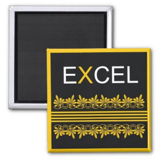 Excel - One Word Quote For Motivation magnet