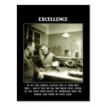 excelencia-en-todo-usted-perseguir-siempre-dar-él- tarjeta postal