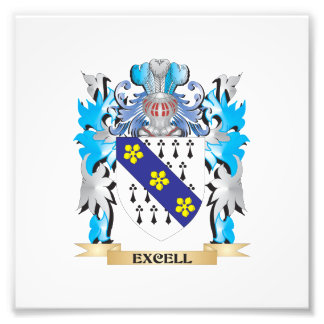 Excell Coat of Arms - Family Crest Photo Art