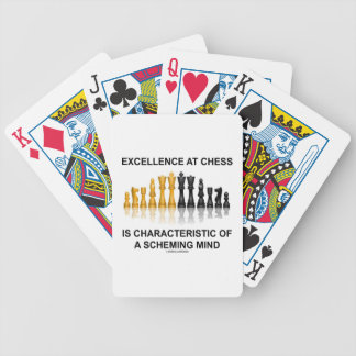 Excellence At Chess Characteristic Scheming Mind Bicycle Playing Cards