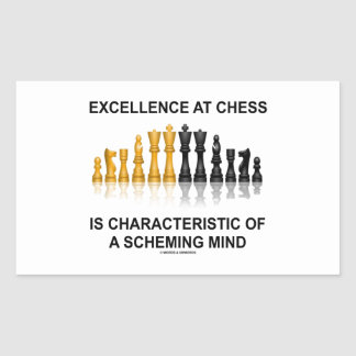 Excellence At Chess Characteristic Scheming Mind Rectangular Sticker