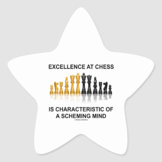 Excellence At Chess Characteristic Scheming Mind Star Sticker