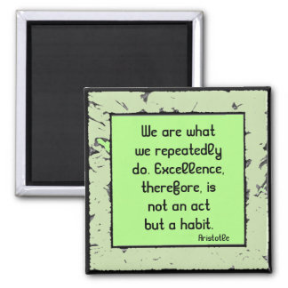 excellence by Aristole 2 Inch Square Magnet