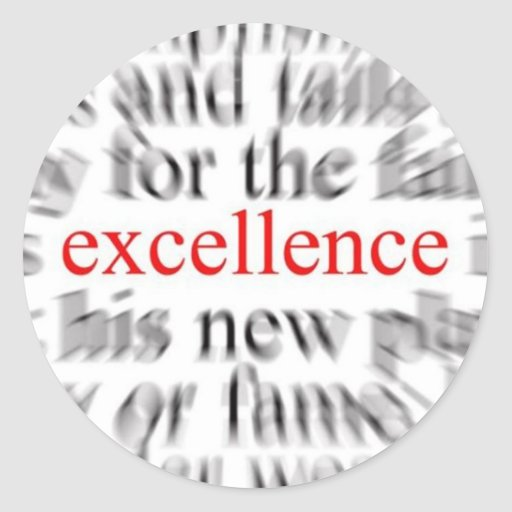 Excellence Classic Round Sticker