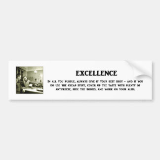 excellence-in-all-you-pursue-always-give-it-your bumper sticker