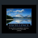 """Excellence Inspirational Poster<br><div class=""""desc"""">This Excellence Inspirational Poster can be customized with any quote you would like. Current quote reads: We are what we repeatedly do. Excellence,  then,  is not an act,  but a habit. - Aristotle</div>"""
