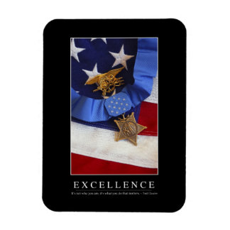 Excellence: Inspirational Quote Magnet