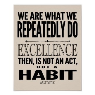 Excellence Is A Habit | Choose Your Color Poster