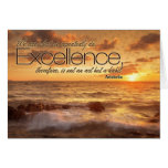 Excellence is Habit Inspirational Note Card