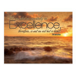 Excellence is Habit Inspirational Post Card