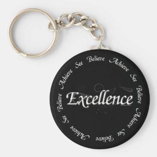 Excellence - see believe achieve basic round button keychain