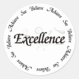 Excellence - see believe achieve round sticker