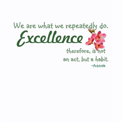 Excellence Tee by tiffanypalisi69