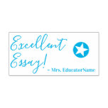 "[ Thumbnail: ""Excellent Essay!"" + Educator's Name Rubber Stamp ]"