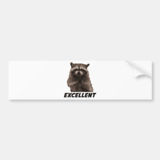 Excellent Evil Plotting Raccoon Bumper Sticker