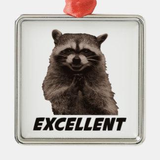 Excellent Evil Plotting Raccoon Metal Ornament