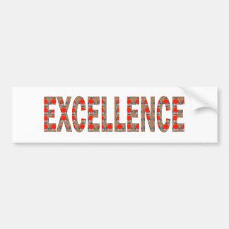 EXCELLENT EXCELLENCE Quality Achievement Topper Bumper Sticker