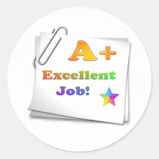 A+ Sticker Excellent job a+ sticker