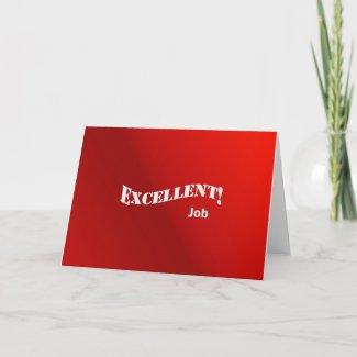 Excellent Job Card