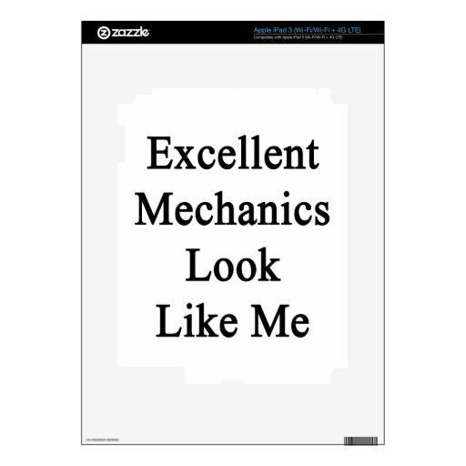 Excellent Mechanics Look Like Me Skins For iPad 3