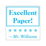 """[ Thumbnail: """"Excellent Paper!"""" Educator Rubber Stamp ]"""