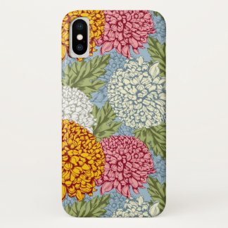 Excellent pattern with chrysanthemums iPhone x case