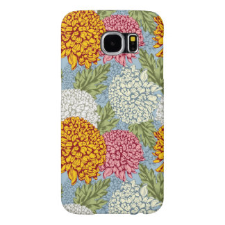 Excellent pattern with chrysanthemums samsung galaxy s6 case