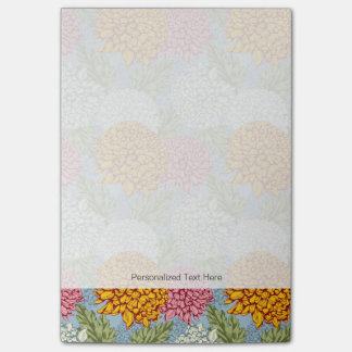 Excellent pattern with chrysanthemums post-it® notes