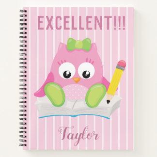 Excellent Pink Owl Notebook