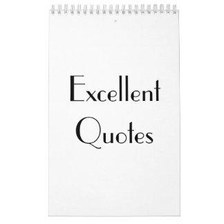 Excellent Quotes Editon 1 ~ 2018 Calendar