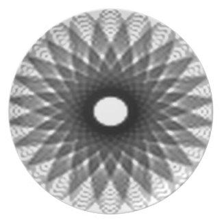 Excellent spiral design plate