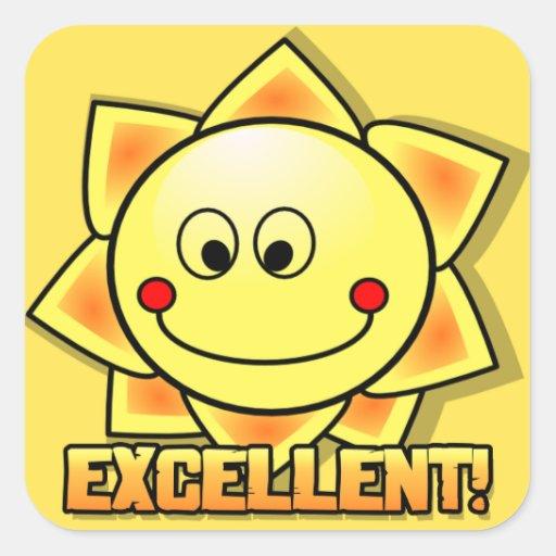 Excellent Sun Sticker   Zazzle