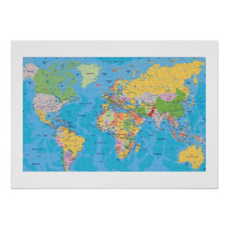 EXCELLENT WORLD MAP POSTERS
