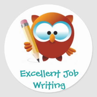 Excellent Writing or Printing Reward Stickers