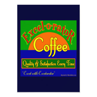 Excelorator Coffee Custom Invitation Template