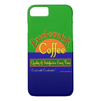 Excelorator Coffee Funny Retro Art iPhone Case