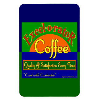 Excelorator Coffee New Retro Crate Art Magnets