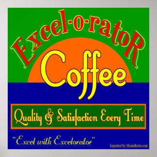Excelorator Coffee Retro Art Print