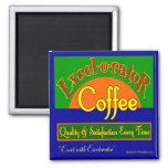 Excelorator Coffee Retro Label Art Fridge Magnet Refrigerator Magnets
