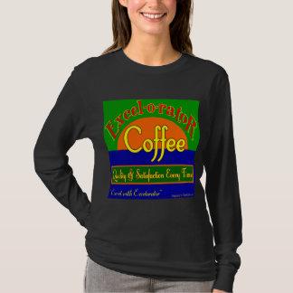 Excelorator Coffee Retro Label Art T-shirt