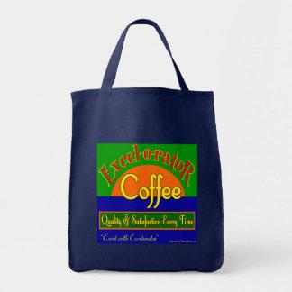 Excelorator Coffee Retro Label Art Tote Bag