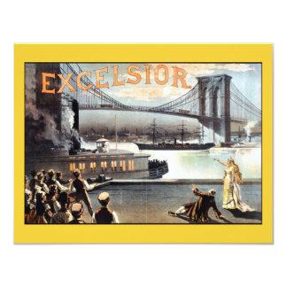 Excelsior 1883 Brooklyn Bridge New York Card