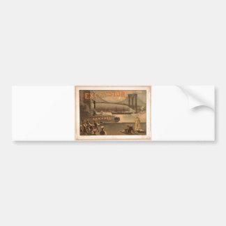 Excelsior 1883 Brooklyn Bridge New York City c1883 Car Bumper Sticker