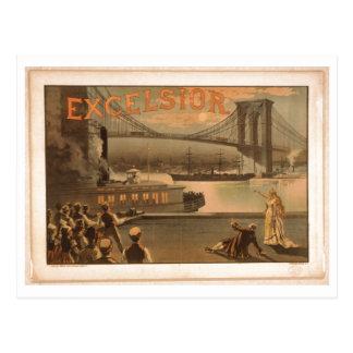 Excelsior 1883 Brooklyn Bridge New York City c1883 Postcard
