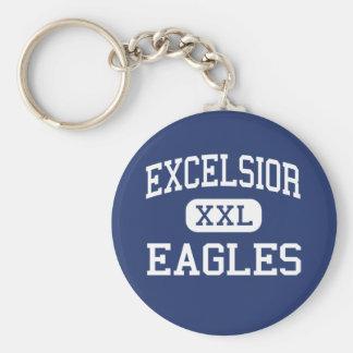 Excelsior - Eagles - High School - Aurora Colorado Basic Round Button Keychain