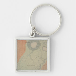 Excelsior Geyser Basin Silver-Colored Square Keychain