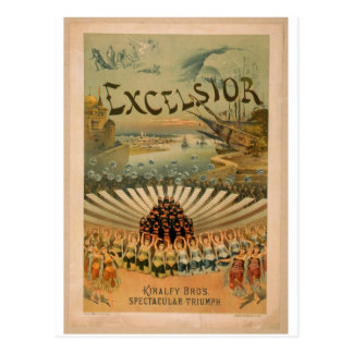 Excelsior, Kiralfy Brothers Spectacular Triumph Postcard