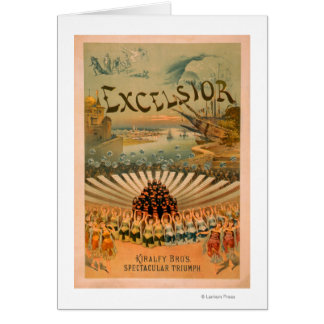 Excelsior Kiralfy Spectacular Triumph Theatre Card