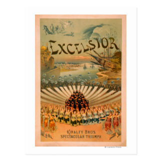 Excelsior Kiralfy Spectacular Triumph Theatre Postcard