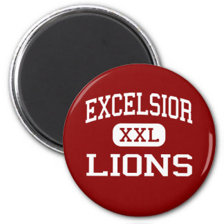 Excelsior - Lions - Middle School - Marion Iowa 2 Inch Round Magnet